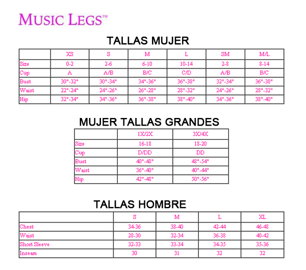 Music Legs Tallas - Sex Shop One