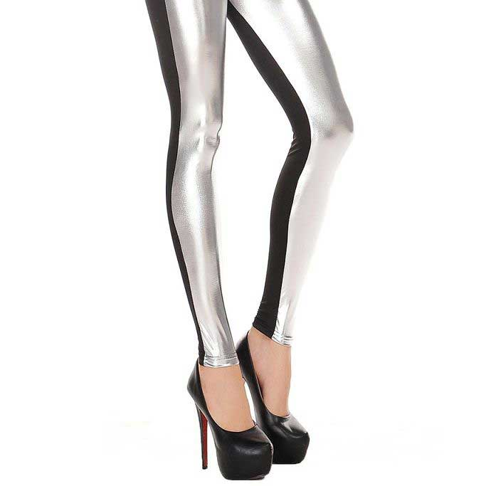 QUEEN-LINGERIE-LEGGING-BLACK-AND-FRONT-SILVER