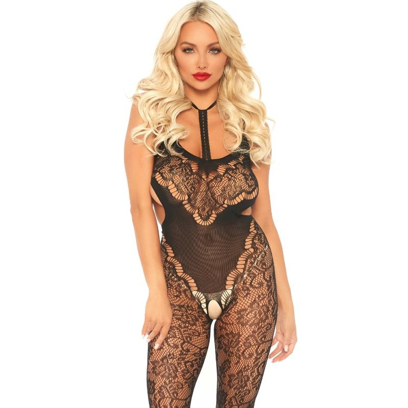 LEG-AVENUE-LACE-BODYSTOCKING-WITH-CUT-OUT-TAU