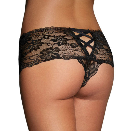 QUEEN-LINGERIE-BLACK-PANTIES-ONE-SIZE