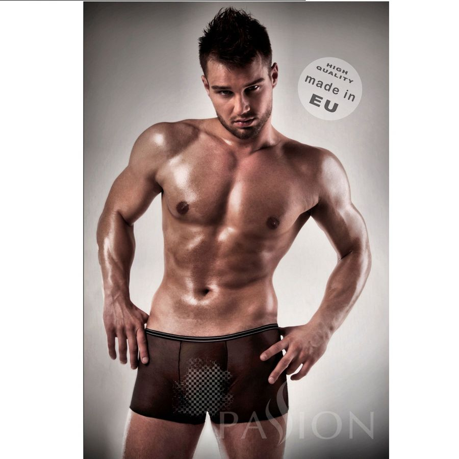 BOXER NEGRO 025 TRANSPARENTE BY PASSION MEN