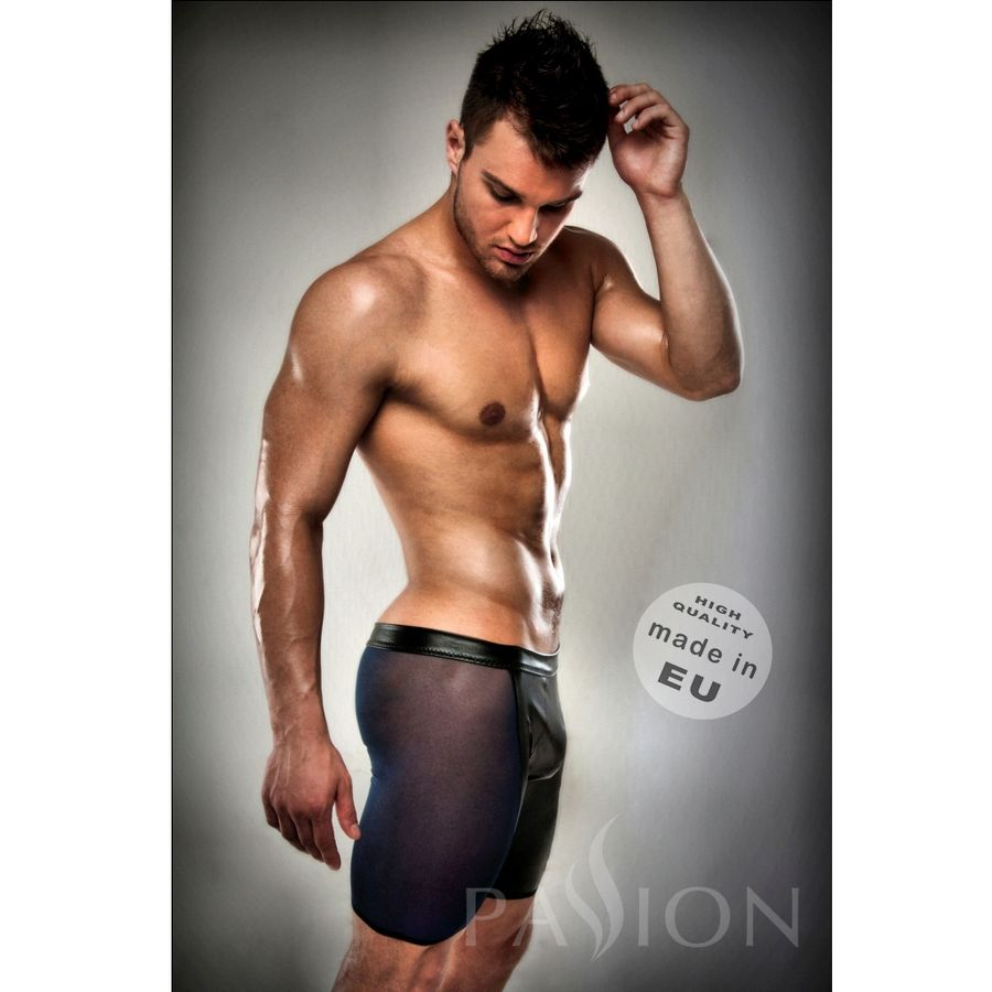 BOXER-NEGRO-026-TRANSPARENTE-LARGO-LEATHER-S-M