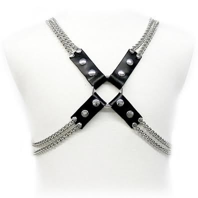 LEATHER-BODY-CHAIN-HARNESS