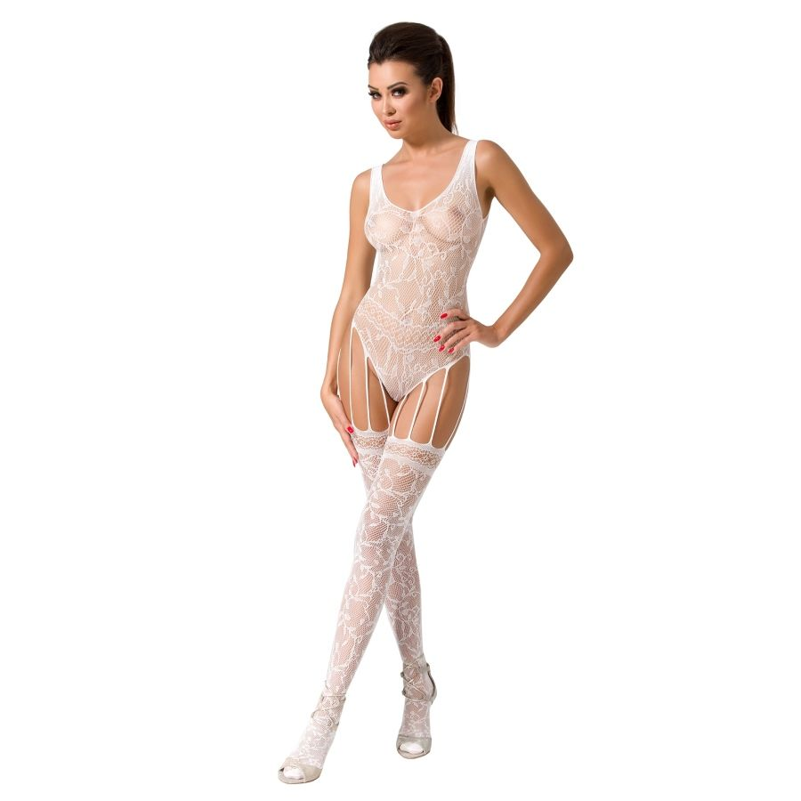 PASSION WOMAN BS051 BODYSTOCKING BLANCO