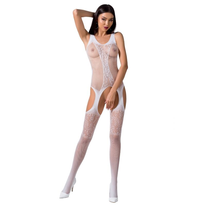 PASSION WOMAN BS072 BODYSTOCKING TALLA UNICA NEGRO
