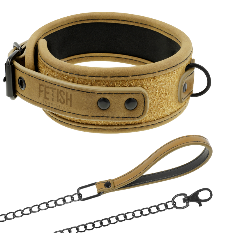 FETISH-SUBMISSIVE-ORIGEN-COLLAR-CON-CADENA